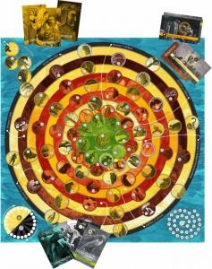 Dantes Reise auf den Läuterungsberg: Spielplan und Karten
