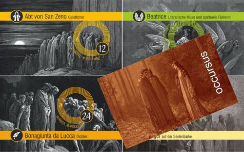 Dantes Reise auf den LäuterungsbergDantes Reise auf den Läuterungsberg: Begegnungskarten